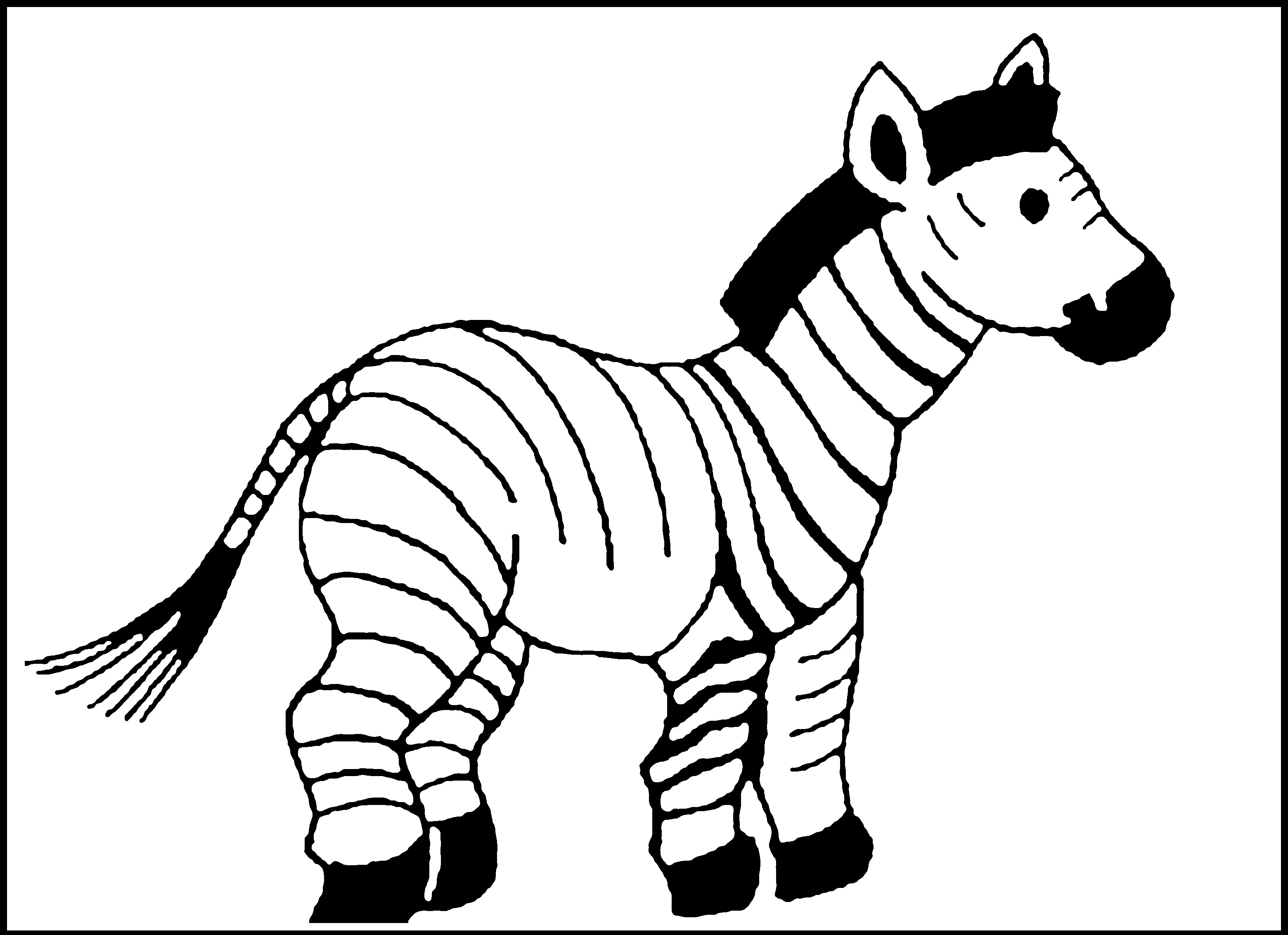 Free Printable Zebra Coloring Pages For Kids | Animal Place